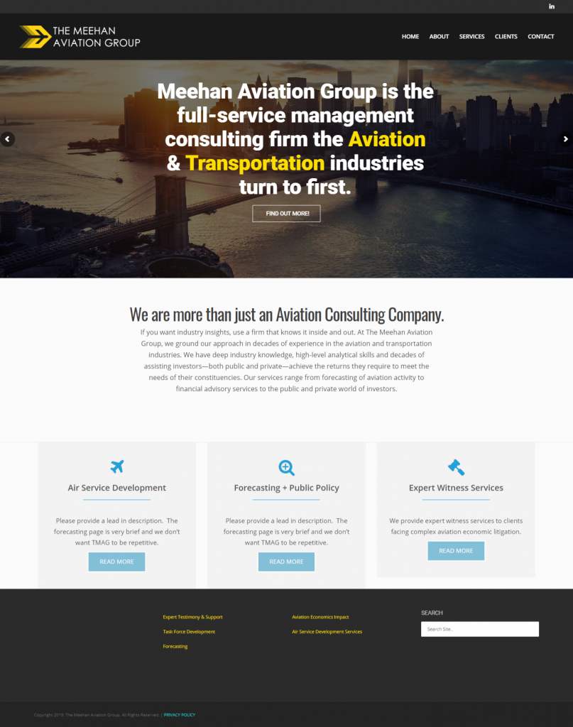Meehan Aviation Website Design