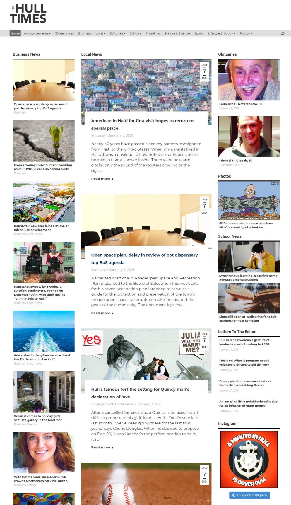 The hull times dot com website screenshot