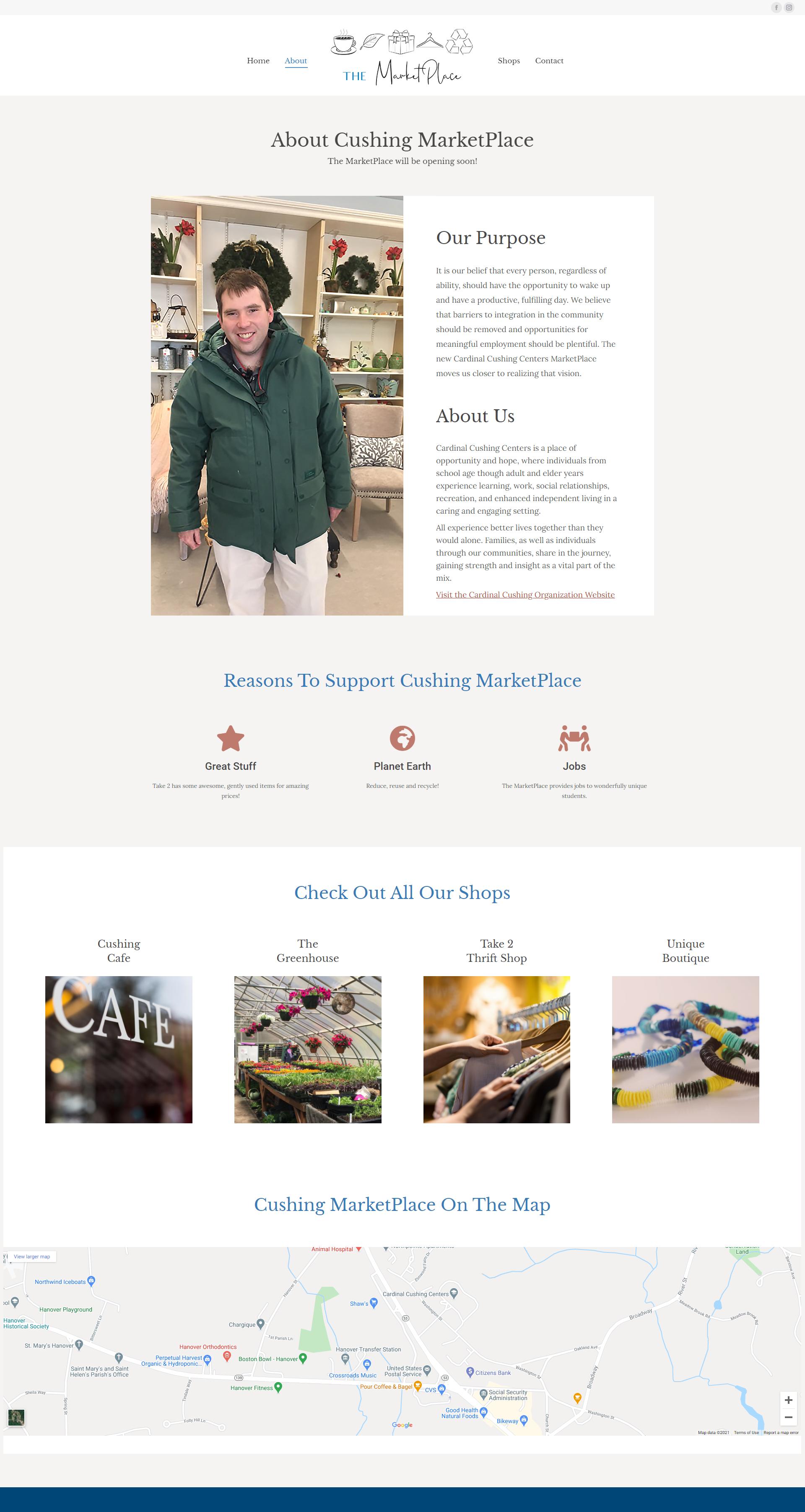 Cushing MarketPlace website screenshot