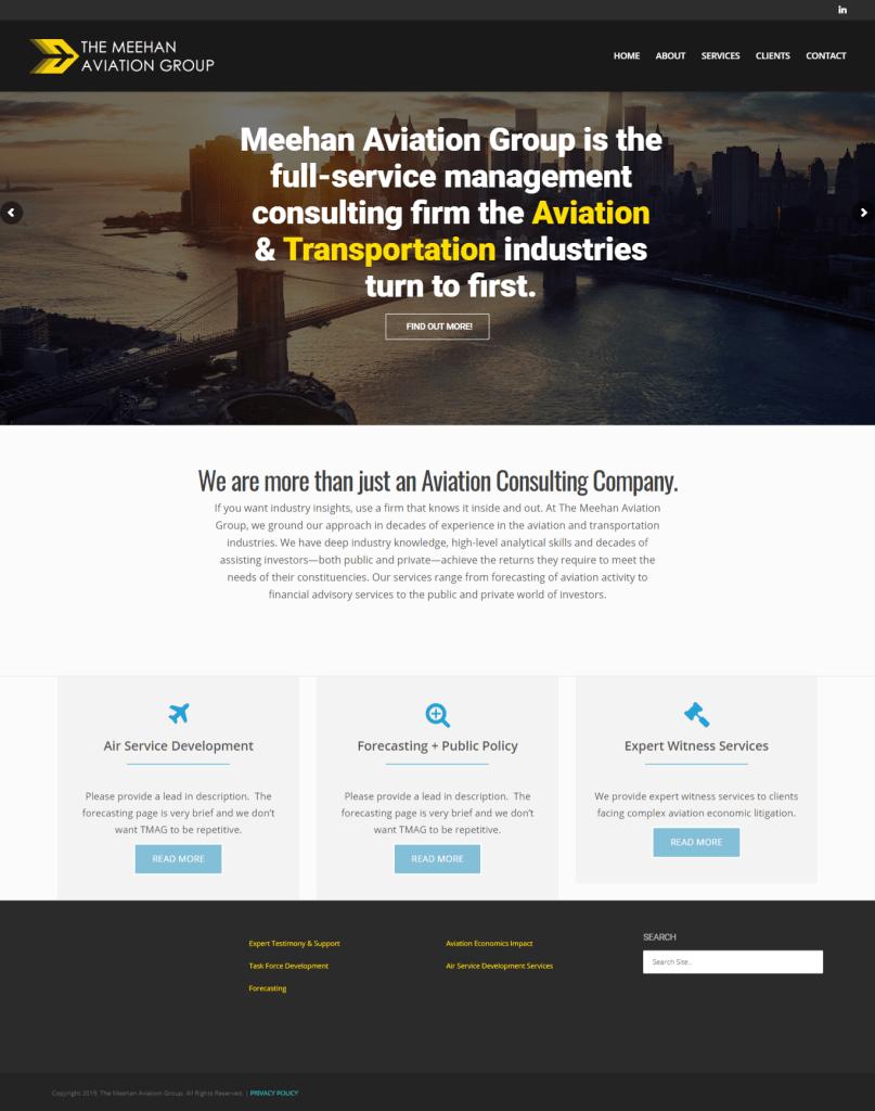 Meehanaviation.com Website Screenshot
