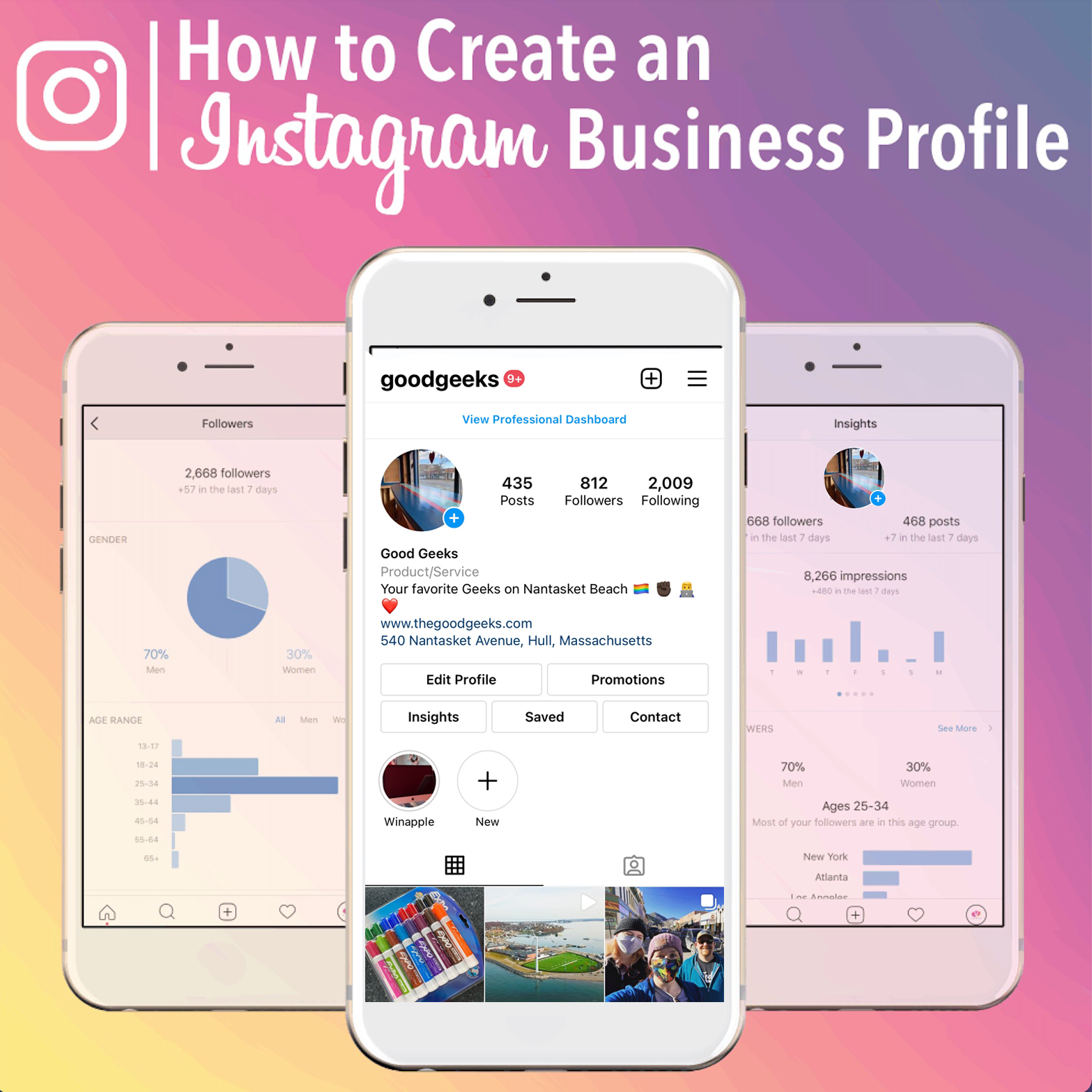 Instagram Business Layout